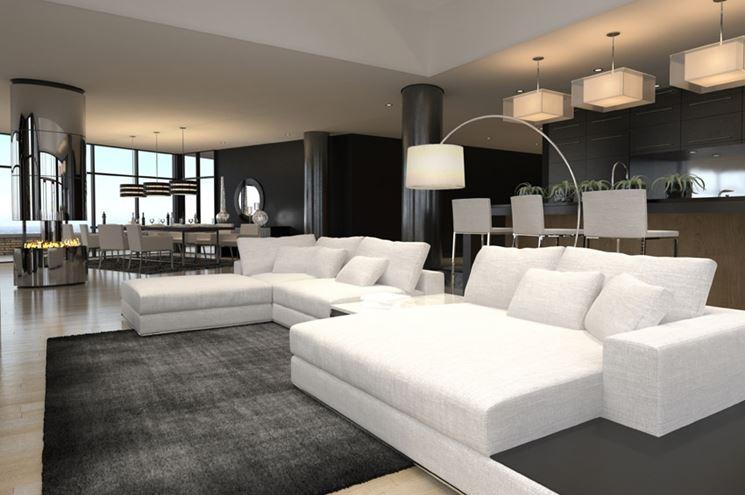 arredamento soggiorno moderno di lusso