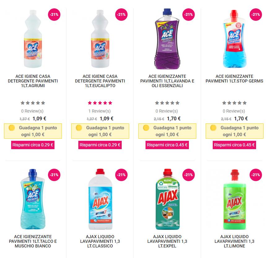 detergenti per la pulizia della casa